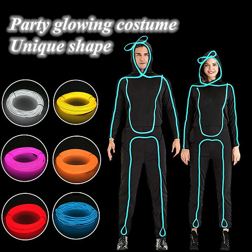 Light Up Stickman Costume