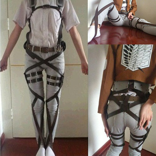 """Attack on Titan"" Shingeki No Kyojin Recon Corps Harness Belt"
