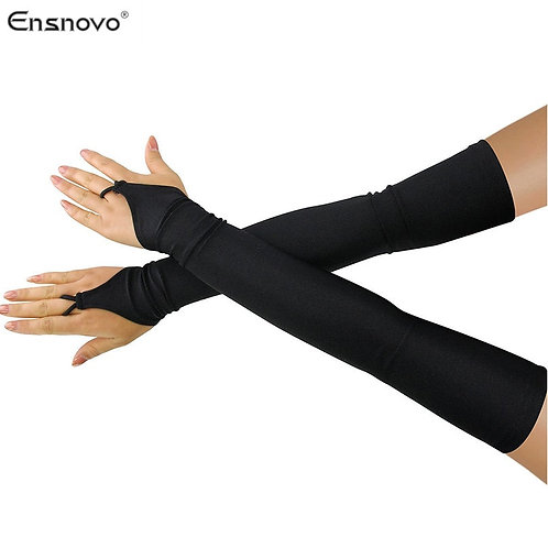 "18""  Spandex Fingerless Over Elbow  Gloves"