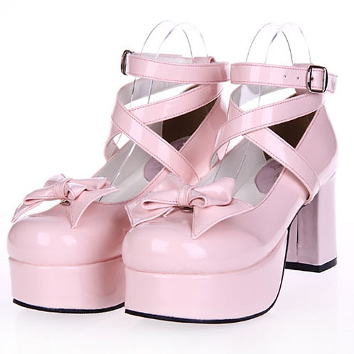 Platform Bowknot Cosplay Lolita Shoes - Many Colors