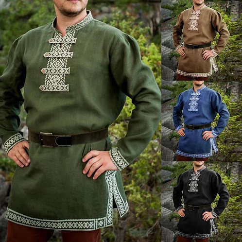 Adult Medieval Viking Cosplay Costume Shirt