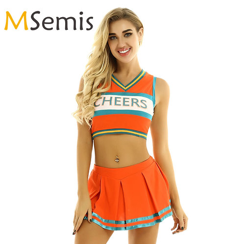 Adult Crop Cheerleading Uniform