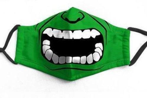 Green Hulk Character Face-Mask