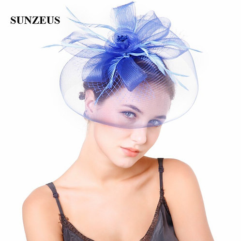 Tulle Flower Mesh Wedding Hat