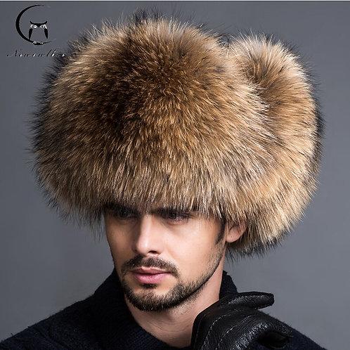 Natural Color Fur Ushanka Hat