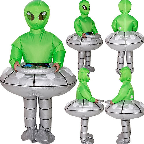 Inflatable Green Alien UFO Costume