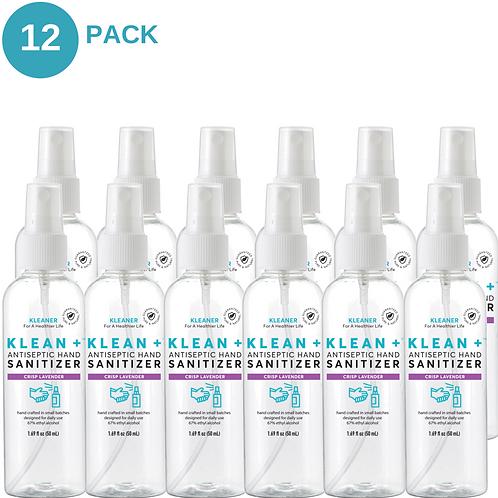 Klean + Hand Sanitizer Crisp Lavender 50ml (12 Pack)