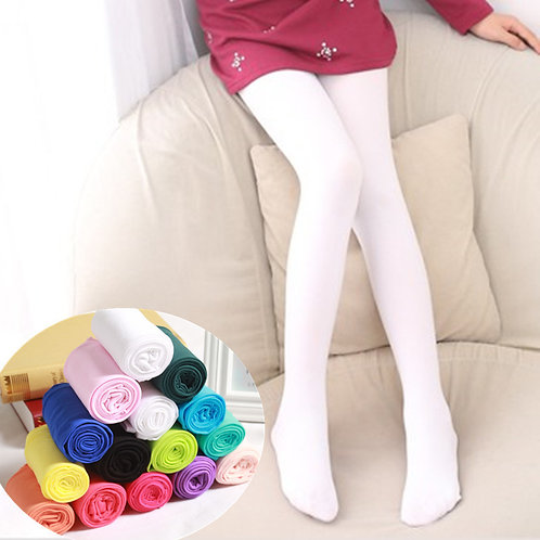 Youth Candy Color Solid Tights