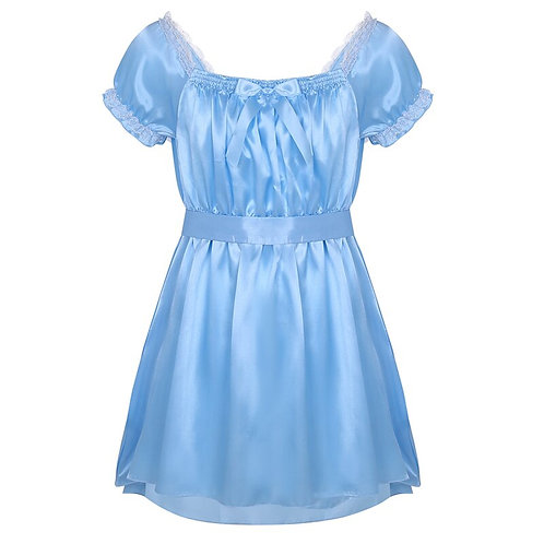 Unisex Sizing Nightwear Satin Dress With Sash
