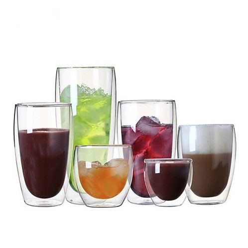 80-450ml Heat Resistant Double Wall Glass