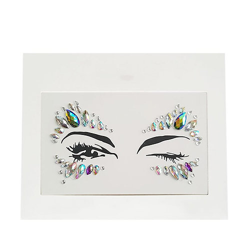 3D Rhinestone  Stick-On Eye Gems