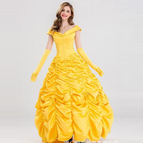 """""""Beauty & The Beast"""" Deluxe Satin Cosplay Gown"""