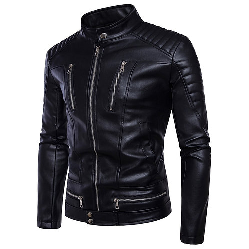 Retro Leather Motorcyle Jacket