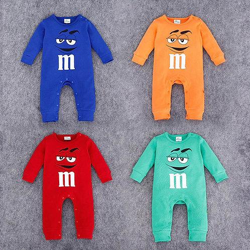Baby M&M Costume Rompers
