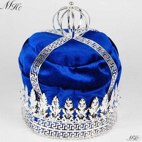 """Royal Blue Velvet 9"""" Crown"""