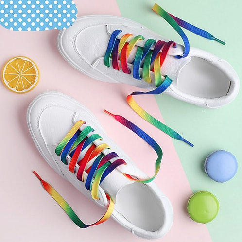 Rainbow Flat Sports Shoe Laces