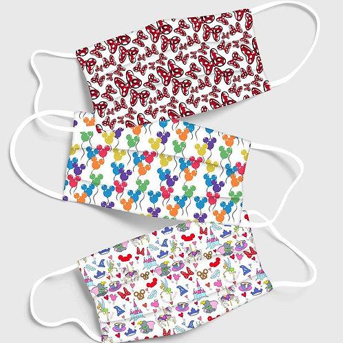 Mini Bows & Balloons - Washable Face Masks 3/Pack