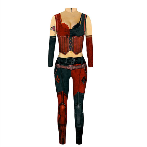 Harlequinn Two-Piece Roleplay Costume