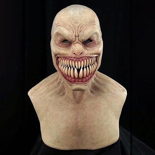 Creepy Wrinkle Face Latex Mask