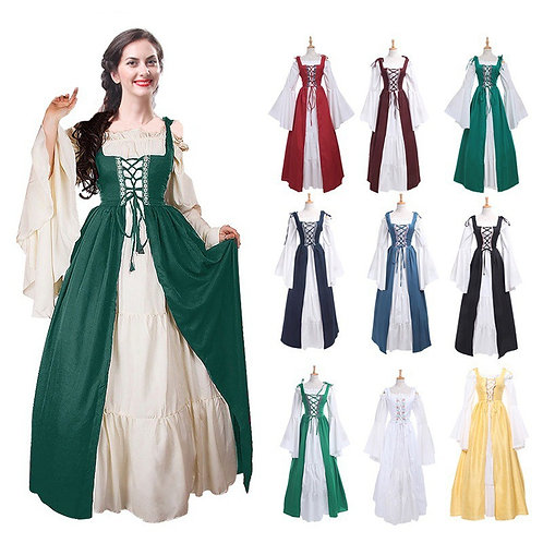 Medieval Peasant Dress Costume - Extended Sizes