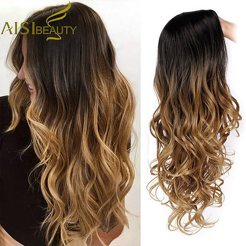 AISI BEAUTY Long Ombre Wavy Wig