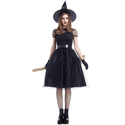 Retro Inspired Short Sleeve Witch Costume
