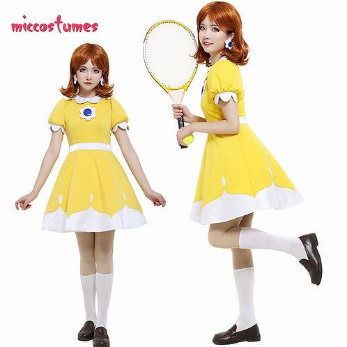 Princess Daisy Yellow Tennis Cosplay Dress