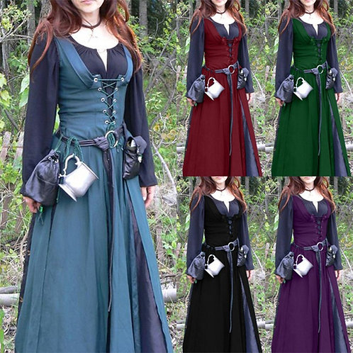 Lace Up Medieval Over Dress