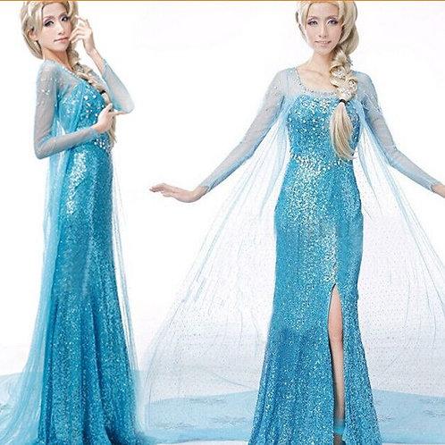 Adult Frozen Elsa Cosplay Costume Dress