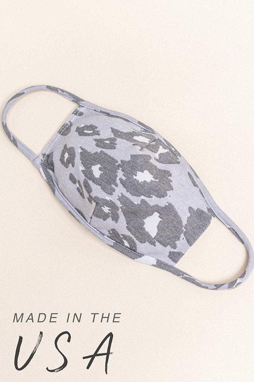Stone Leopard 2/Pk Cotton Adult Mask