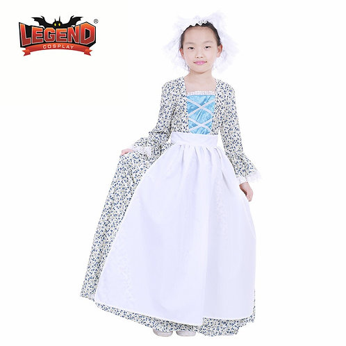 Youth Countryside Floral Pioneer Costume Set