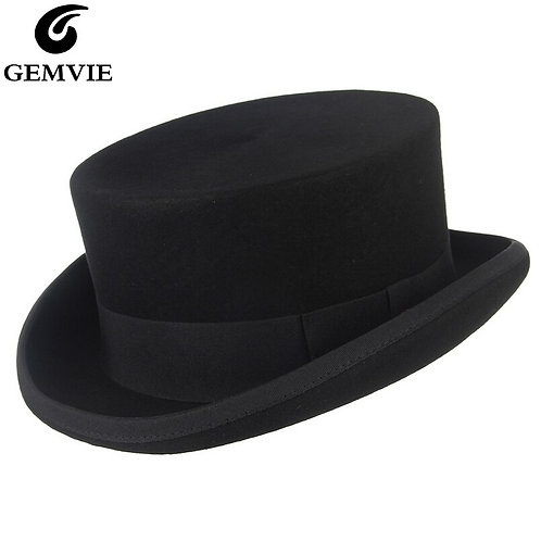 11cm  Wool Felt Low Top Hat