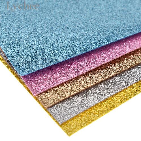 Chzimade 21x30cm A4 Glitter Felt Fabric Colorful Felt