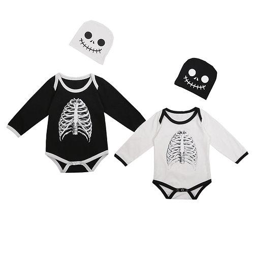 Skeleton Baby Romper & Hat Set