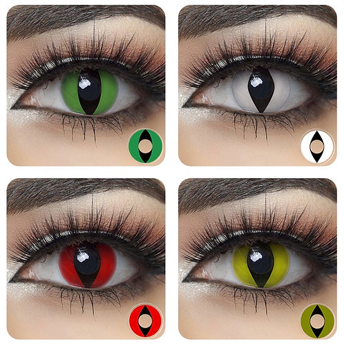 1 Pair Novelty Cat Eye Contact Lenses