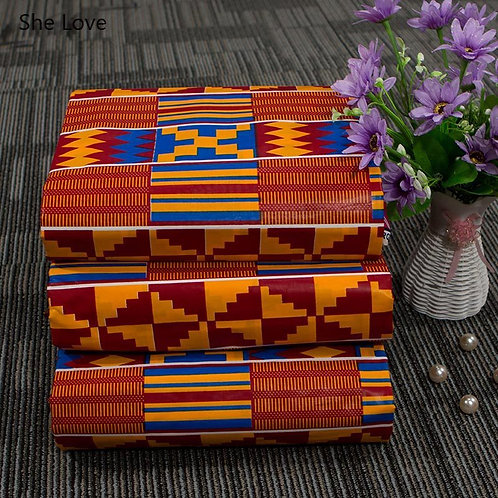 She Love 1Yard Ankara African Real Wax Fabric