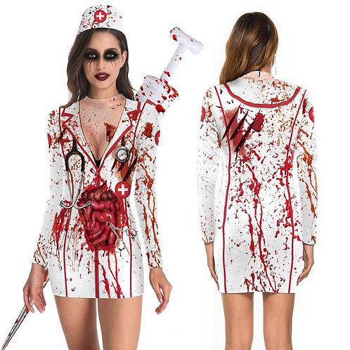 Scary Nurse Zombie Costume