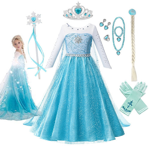 """""""Frozen"""" Elsa Cosplay Costume Set"""