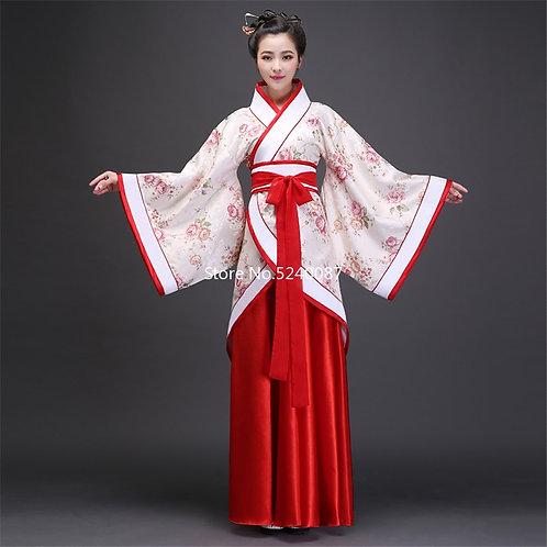 Adult Chinese Traditional Tang Dynasty Hanfu & Cheongsam Set