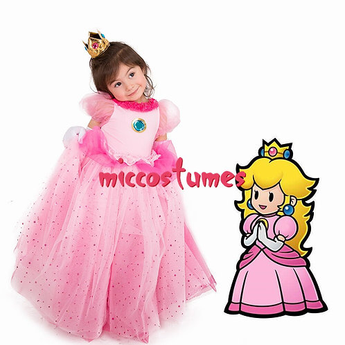 Youth Princess Peach Tulle Dress