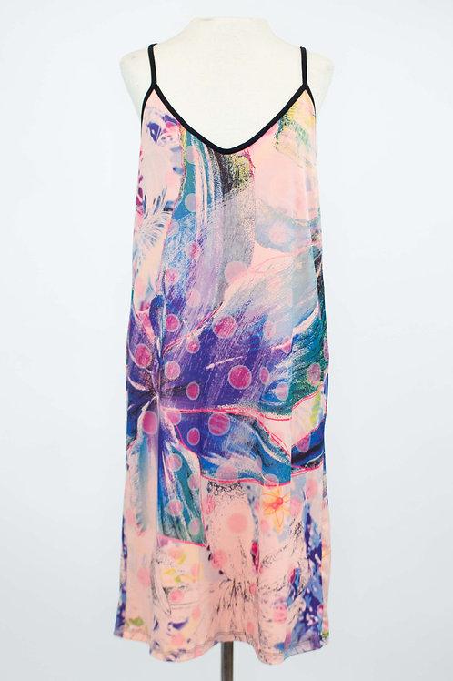 Floral Print Sleeveless Dress - Pink