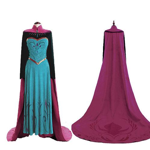 """Frozen"" Adult Elsa Coronation Cosplay Dress"