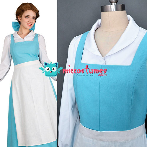 """Beauty & The Beast"" Belle Cosplay Costume With Apron"