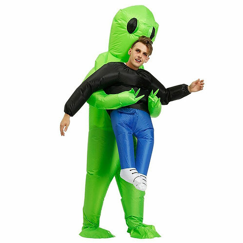Inflatable Green Alien Novelty  Costume