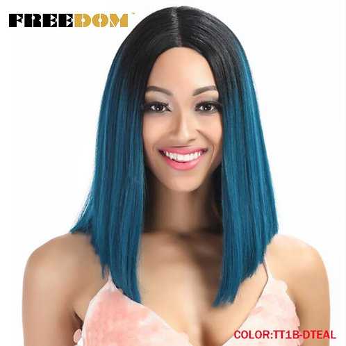 "14"" Short Straight Lace Front Wig"
