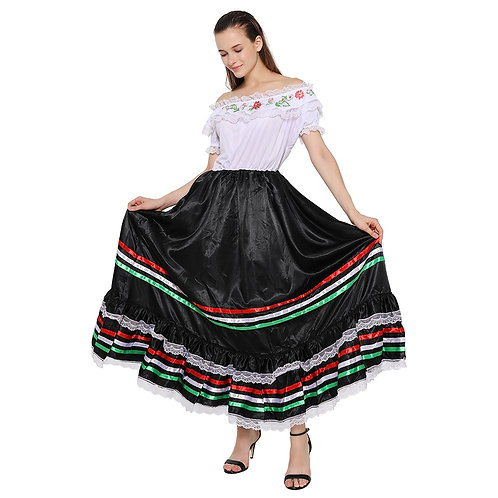 Traditional Mexican Festival Dance Costume
