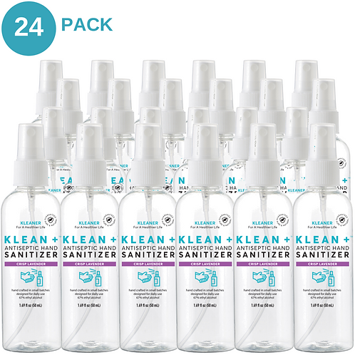 Klean + Hand Sanitizer Crisp Lavender 50ml (24 Pack)