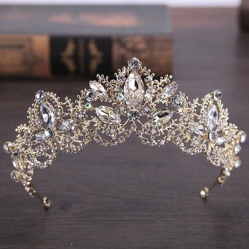 Baroque Marquise Crystal Tiara