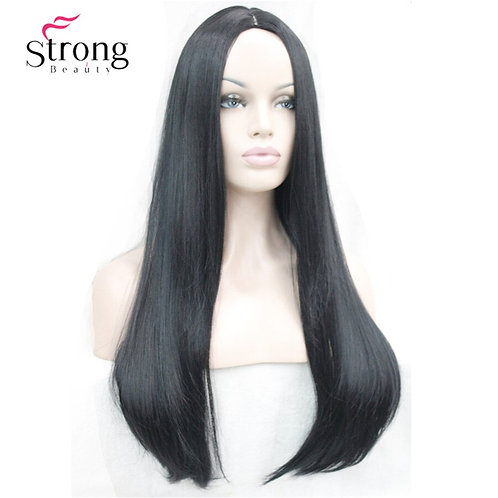 "26"" Long Straight Center Part Cosplay Costume Wig"
