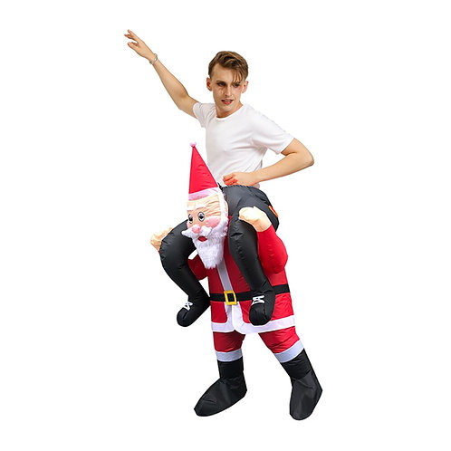 Inflatable Santa Claus Shoulder Ride Costume